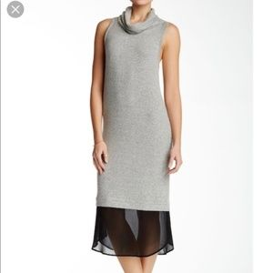 Free Press women M sleeveless cowl neck dress